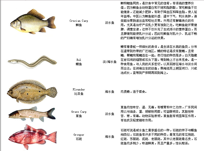 Names of fish lisparc for Names for a fish