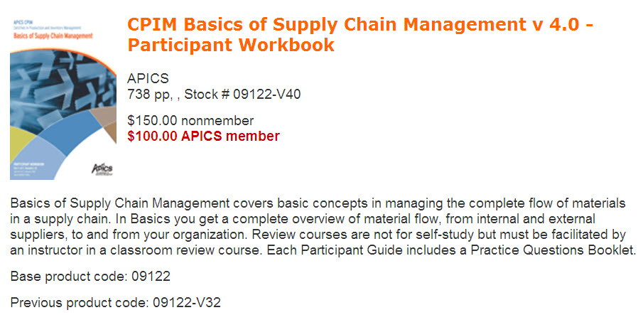 Master Planning of Resources (MPR) | APICS Exam Warehouse